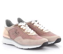 Sneaker H254 Veloursleder Leder metallic rosé Stoff