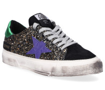 Sneaker low MAY Glitter Veloursleder Logo Used