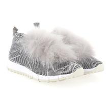 Sneaker Slip-On NORWAY Fell Nylon Logo silber