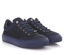 Sneaker Low Ace Nubukleder metallic point-Prägung