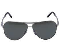 Sonnenbrille Aviator 8648 Titan silber