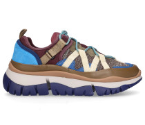 Sneaker low BLAKE Kalbsvelours Materialmix Logo