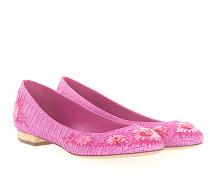 Ballerinas PARAISO Leder pink lila Schlangenprägung