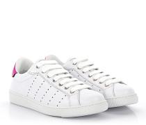 Sneaker Santa Monica Leder weiss Fuxia