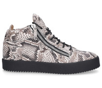 Sneaker high KRISS PHYTON Kalbsleder Logo Print
