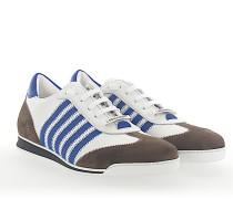 Sneaker NEW RUNNER Leder weiss blau Veloursleder