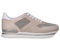 Sneaker low H222 Kalbsleder Textil Veloursleder Logo