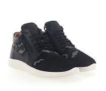 Sneaker RUNNER Kalbsleder Mesh Textil camouflage