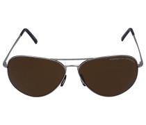 Sonnenbrille Aviator 8508 Metall silber