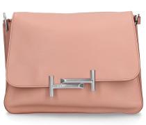 Handtasche DOUBLE T Kalbsleder Logo nude