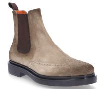 Chelsea Boots 10262 Veloursleder Lochmuster beige