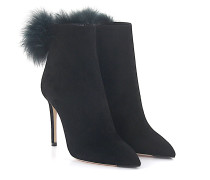 High Heels Veloursleder Bommel Fellschaft