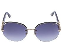 Sonnenbrille Round B67S 0300 Acetat Metall gold
