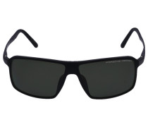 Sonnenbrille Wayfarer 8650 Titan Acetat schwarz