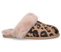Hausschuhe SCUFETTE II LEOPARD Lammleder leopard