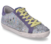 Sneaker low SUPERSTAR Glitter Veloursleder Used lila