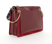 Schultertasche Handtasche ROY Glattleder bordeaux
