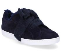 Sneaker low 8518 Veloursleder Schleife