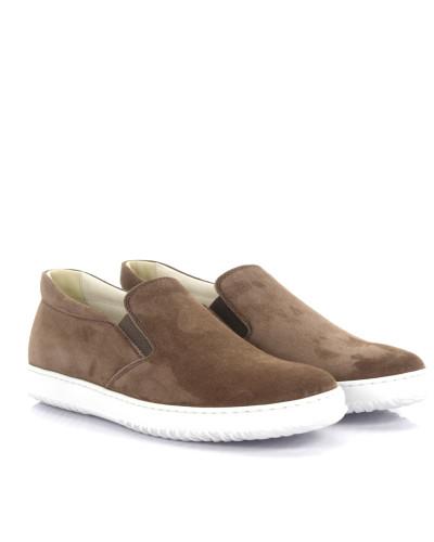 Sneaker Slip-on Leder beige
