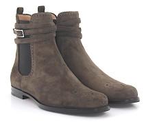 Stiefeletten Boots 7129 Veloursleder taupe