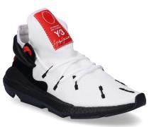 Sneaker low KUSARI Glattleder Neopren Textil Logo