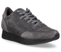 Sneaker TROPEZ Kalbsvelours Logo dunkel
