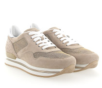 Sneaker H222 Plateau Veloursleder Glitzer Prägung