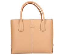 Shopper D-BAG MEDIUM Kalbsleder Logo nude