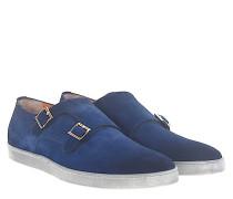 Sneaker Doppel-Monk 15506 Veloursleder dunkel
