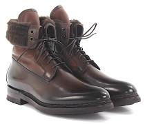 Stiefeletten Boots Leder poliert Lammfell