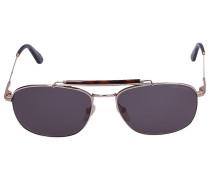 Sonnenbrille Aviator 339 28N Acetat Metall braun gold