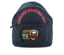 Rucksack Canvas blau Patch