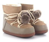 Boots CLASSIC POMPOM Lammleder Bommeln Fell