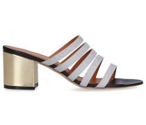Sandalen 2964 Glitter Kalbsleder gold silber