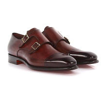 Doppel-Monk 07508 Leder bordeaux Goodyear Welted