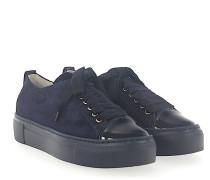 Sneaker D925065 Plateau Veloursleder dunkel Lackleder