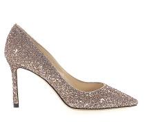 High Heels Pumps Glitter Kalbsleder Textil Glitzer
