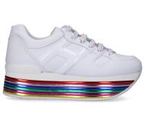 Sneaker low MAXI Kalbsleder Lochmuster Logo
