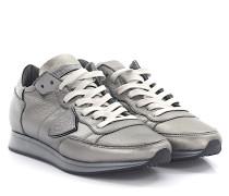Sneaker TROPEZ LOW Leder glänzend Lammfell