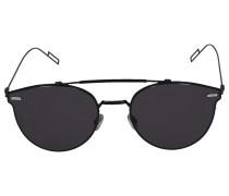 Sonnenbrille Cat Eye PRESSU Metall schwarz