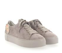 Sneaker D925090 Plateau Veloursleder Patch-Blumen