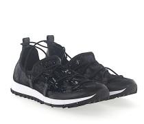 Sneaker Slip On ANDREA Pailletten Mesh Leder