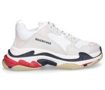 Sneaker low TRIPLE S Kalbsleder Polyester Logo rot