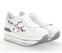 Sneaker H346 Kalbsleder Blumenmuster