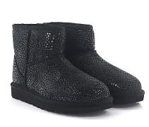 Stiefeletten Boots CLASSIC MINI Veloursleder Glitzer