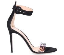 Sandalen STELLA PVC Wildleder schwarz