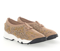 Sneaker Slip On FUSION Mesh Pailletten gold