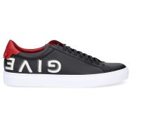 Sneaker Glattleder Logo rot