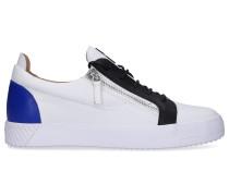 Sneaker low JULY Kalbsleder Logo blau
