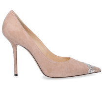 Pumps LOVE 100 Veloursleder Swarovski